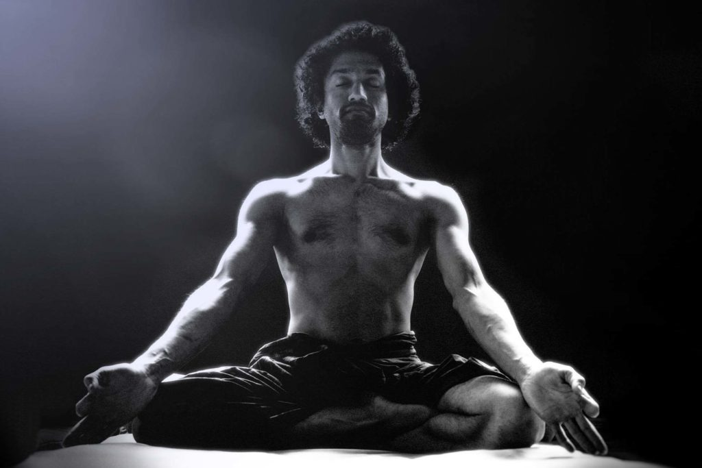 Hatha yoga meditation.
