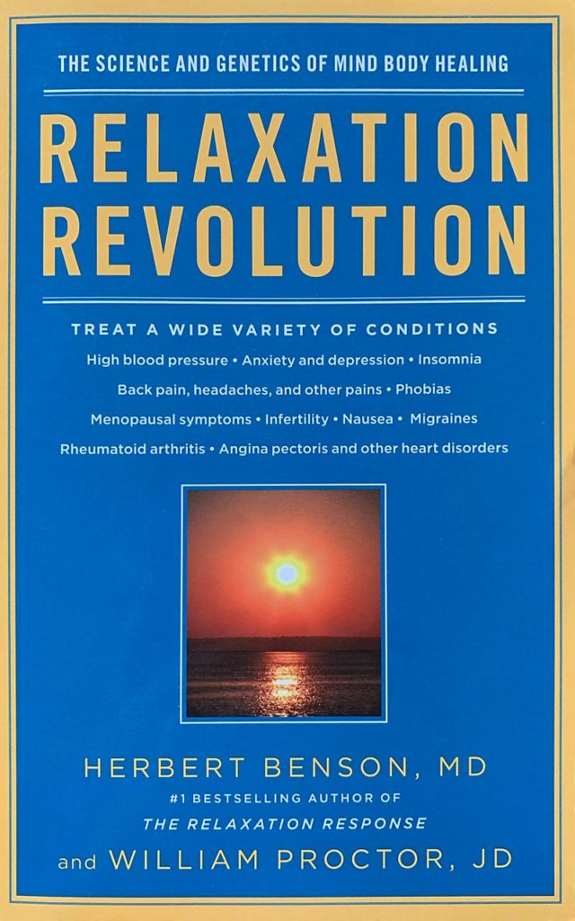 "The cover of the book Relaxation Revolution""."