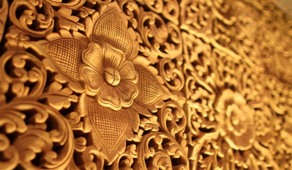 Gold decorations symbolising authenticity.