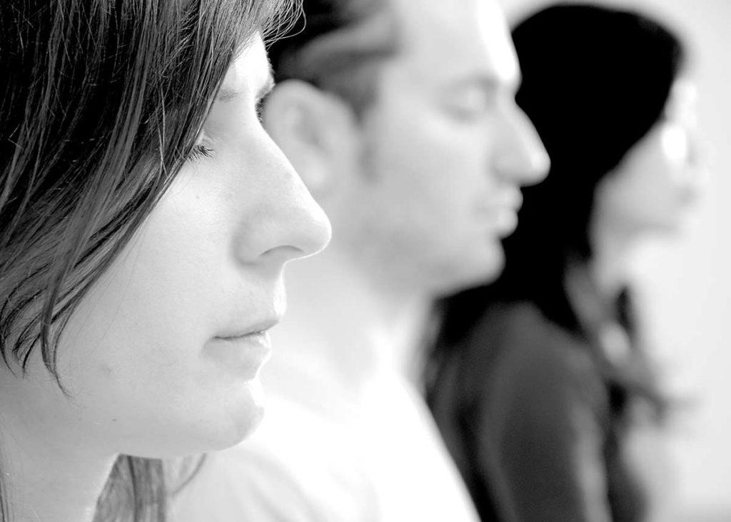 Meditators practicing Inner Silence.