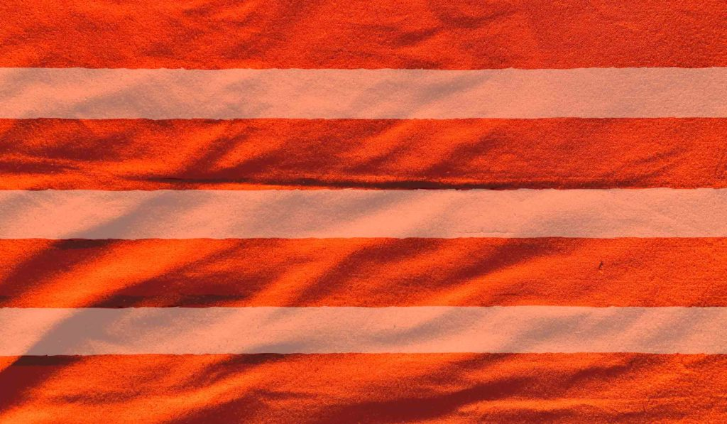 Orange Dhoti with Bihar stripes