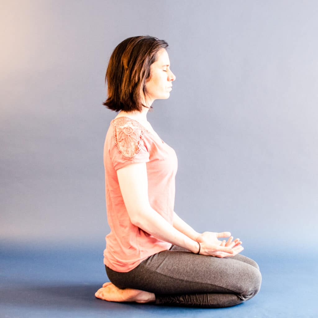 Vajrasana - a yoga pose you can do right after eating that help you speed up digestion.