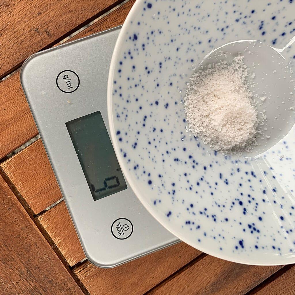 Nine grams of salt