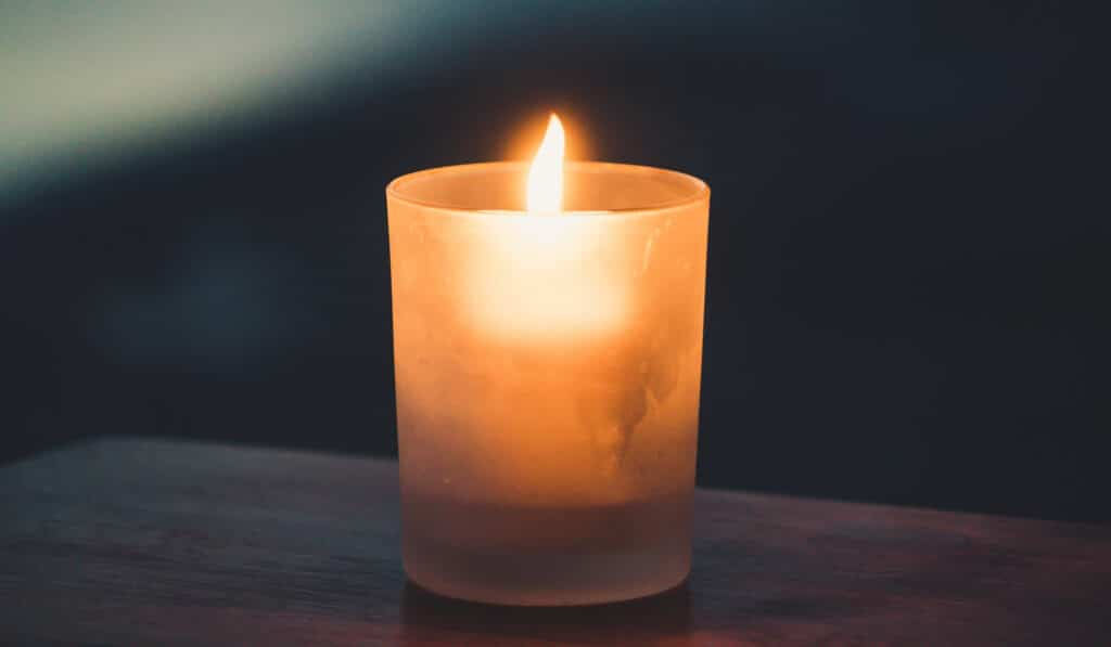 The flame of a candle, symbol of the realisation of your true self.